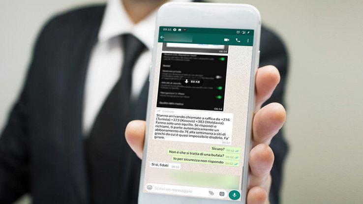 whatsapp messaggio truffa