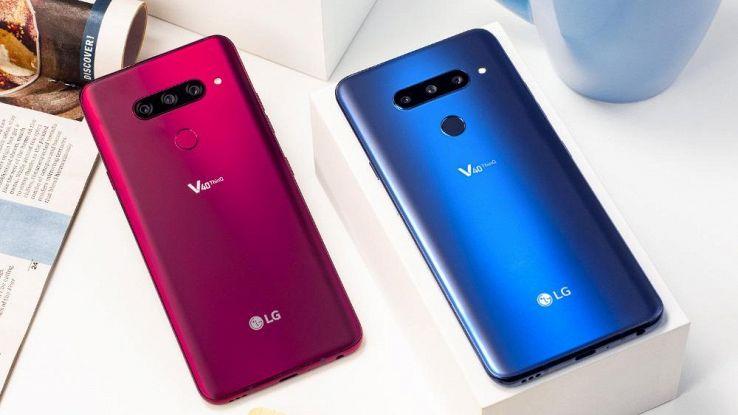 LG V40 ThinQ, in Italia da fine gennaio