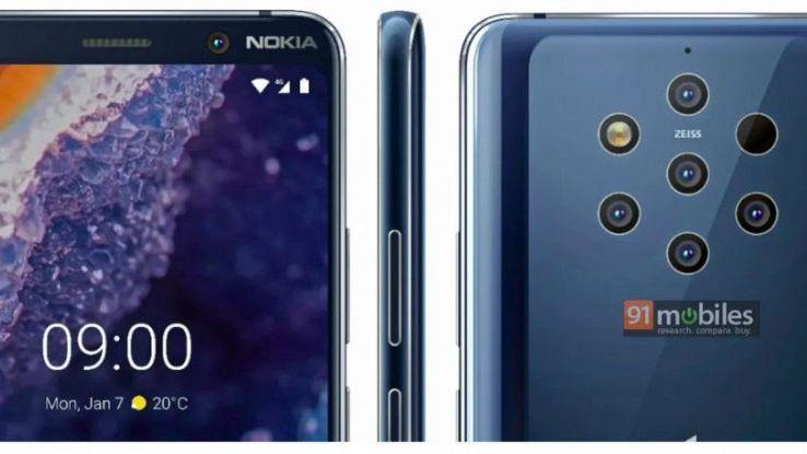 Nokia, 5 fotocamere per il top di gamma