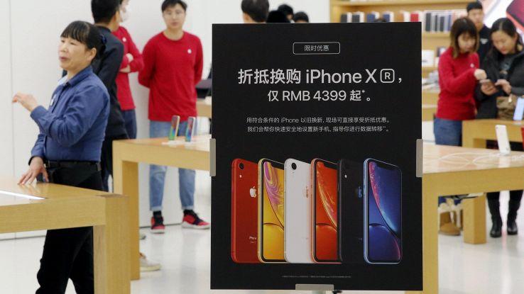 IPhone a -20% in Cina nel IV trimestre