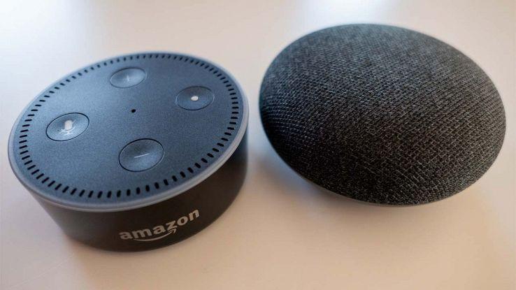 Google Home Mini e Amazon Echo Dot