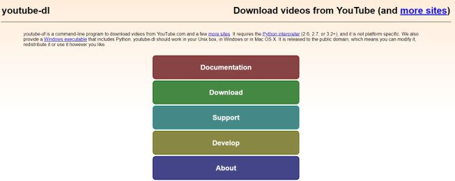 screen github download youtube dl