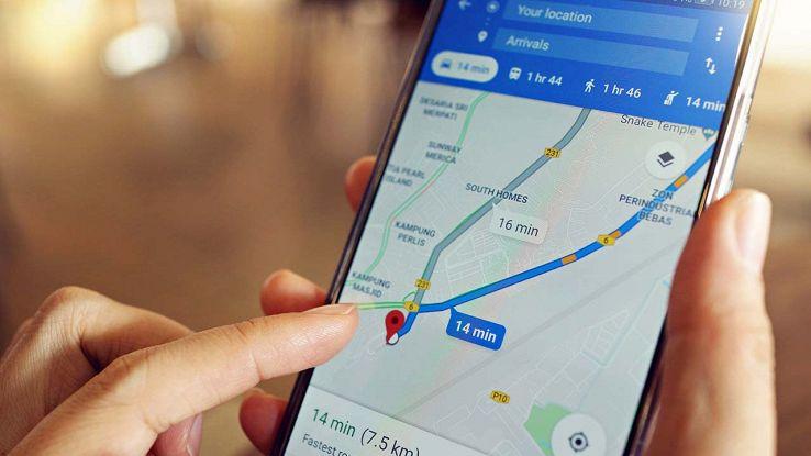 Spostamenti su Google Maps