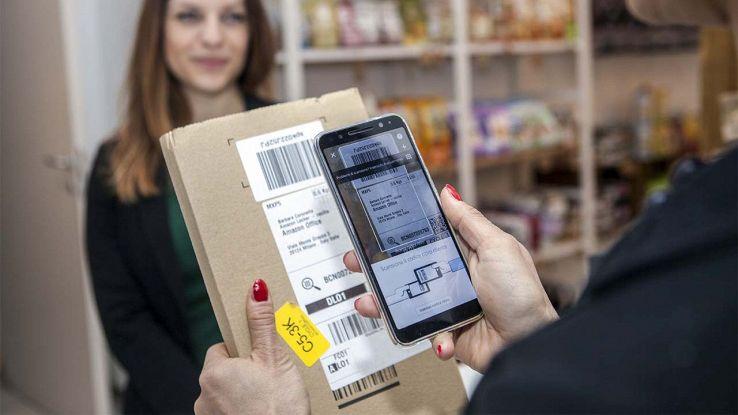Scansione pacchi Amazon