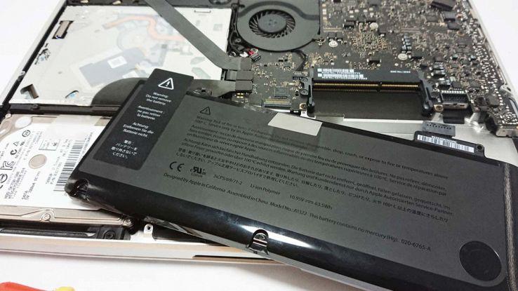 Batteria del Mac smontata