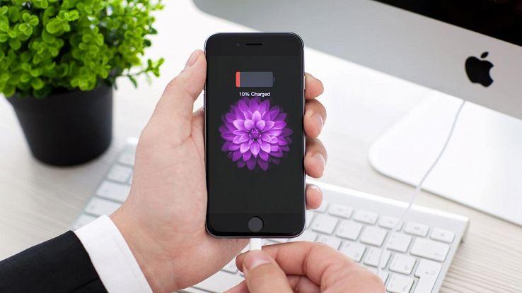 batteria smartphone scarica