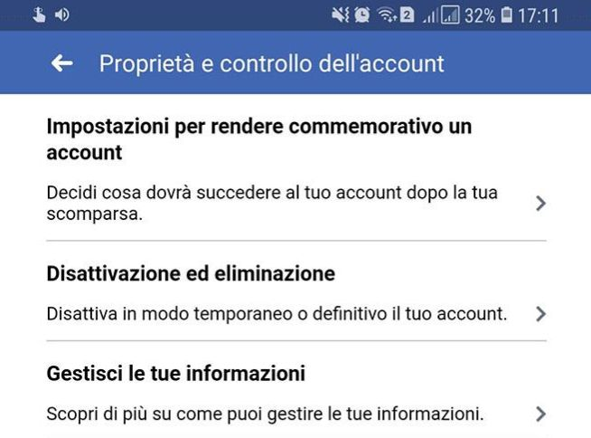 come eliminare account facebook da smartphone