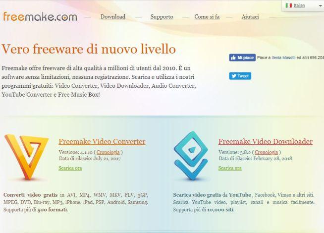 Freemake homepage