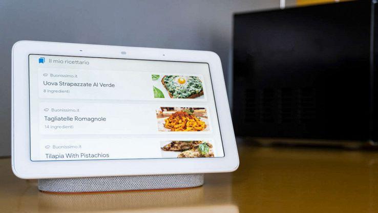 Google Nest HUB con ricette buonissimo.it