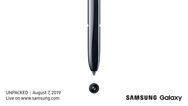 Invito evento Galaxy Note 10