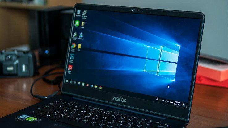 windows 10 schermo
