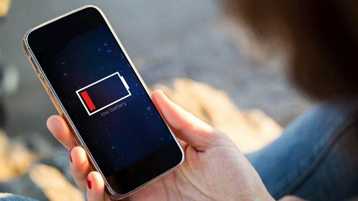 Smartphone scarico