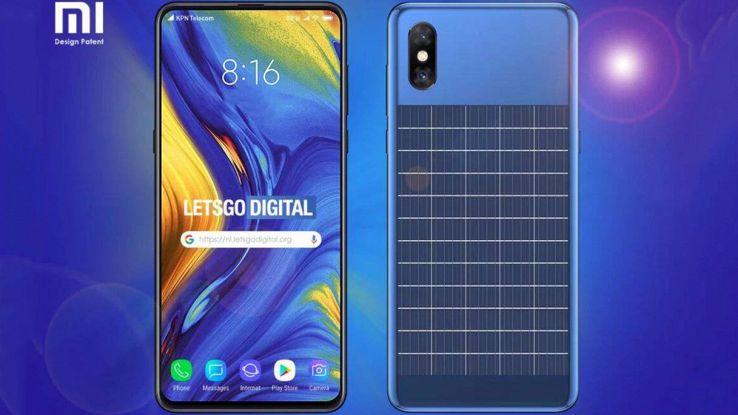 brevetto xiaomi smartphone ricarica solare