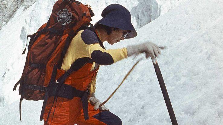 Junko Tabei durante una scalata