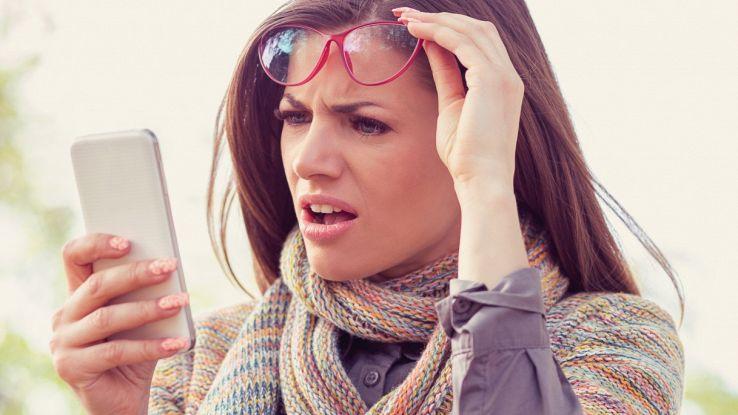 Falso messaggio su smartphone