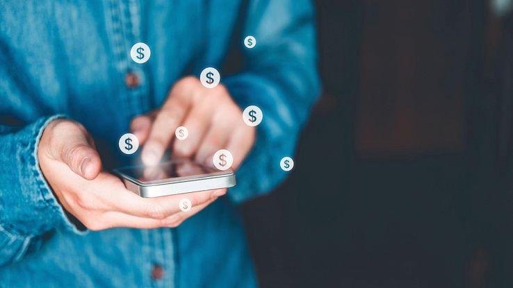 soldi su smartphone