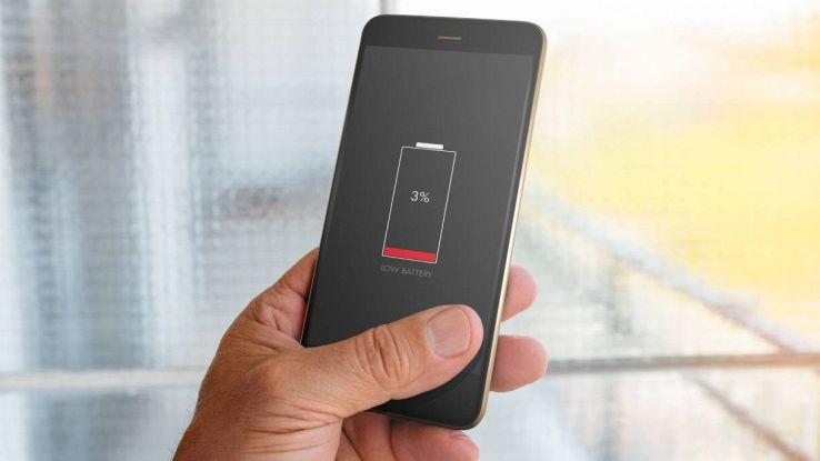 smartphone batteria scarica