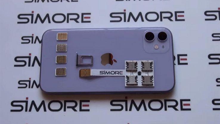 cinque schede sim smartphone