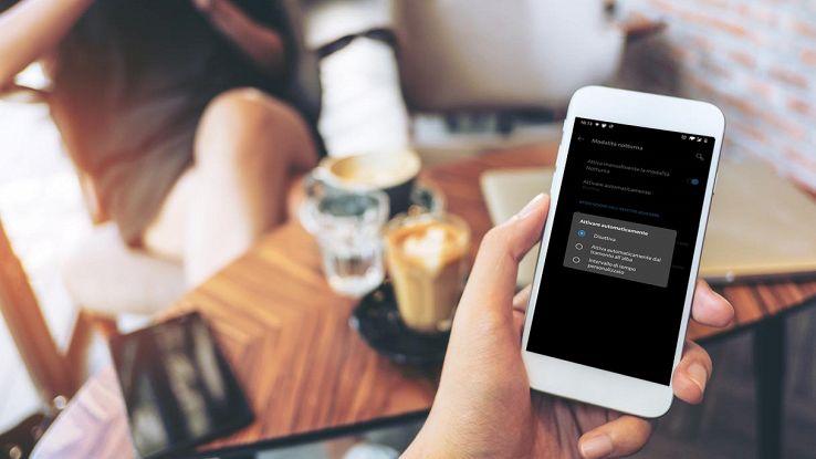 smartphone android modalita scura