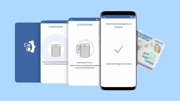 Schermate dell'app CieID