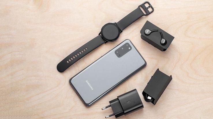 confezione smartphone samsung