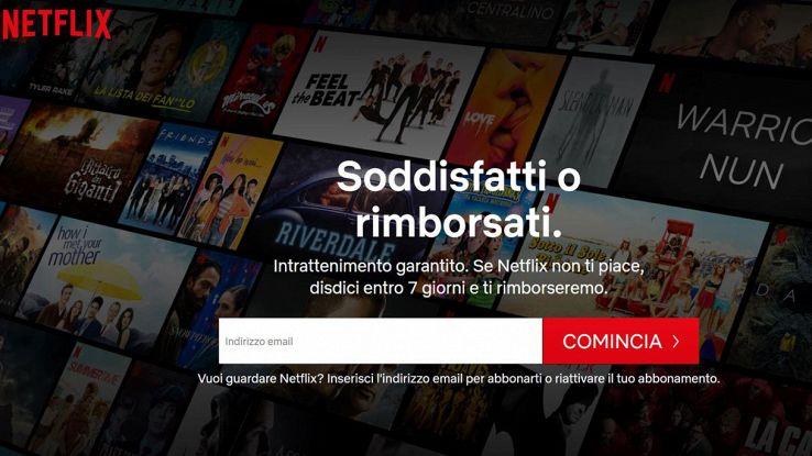 """Netflix, arriva il """"Soddisfatti o rimborsati"""": come funziona"""