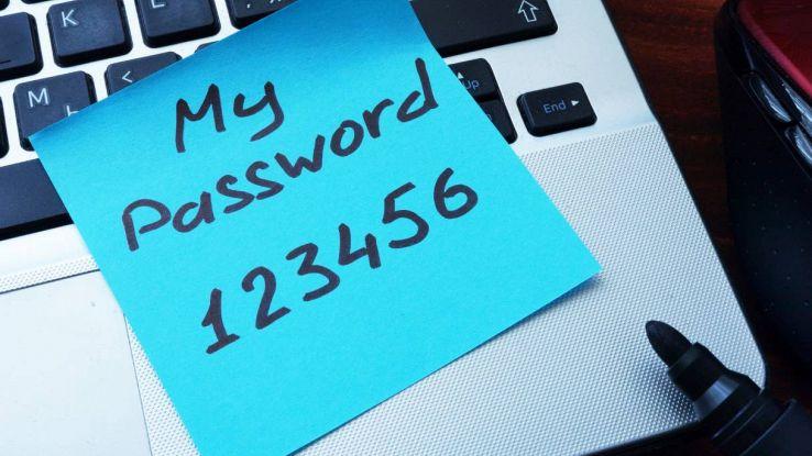 password 123456 sicurezza informatica