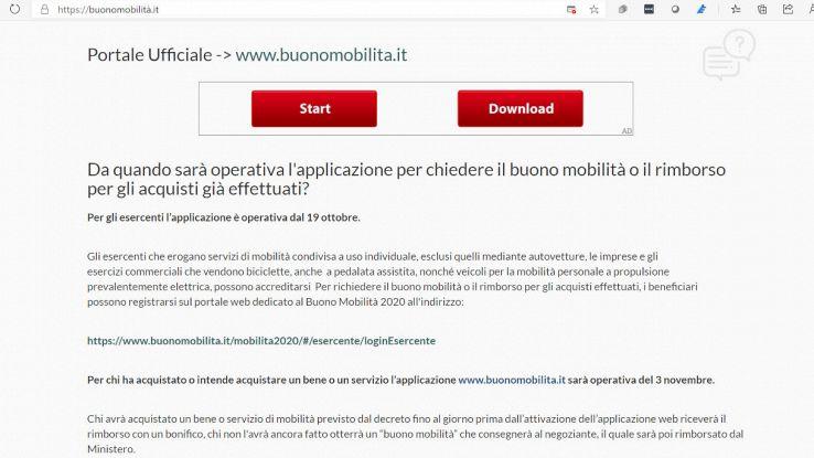 bonus mobilità sito fake