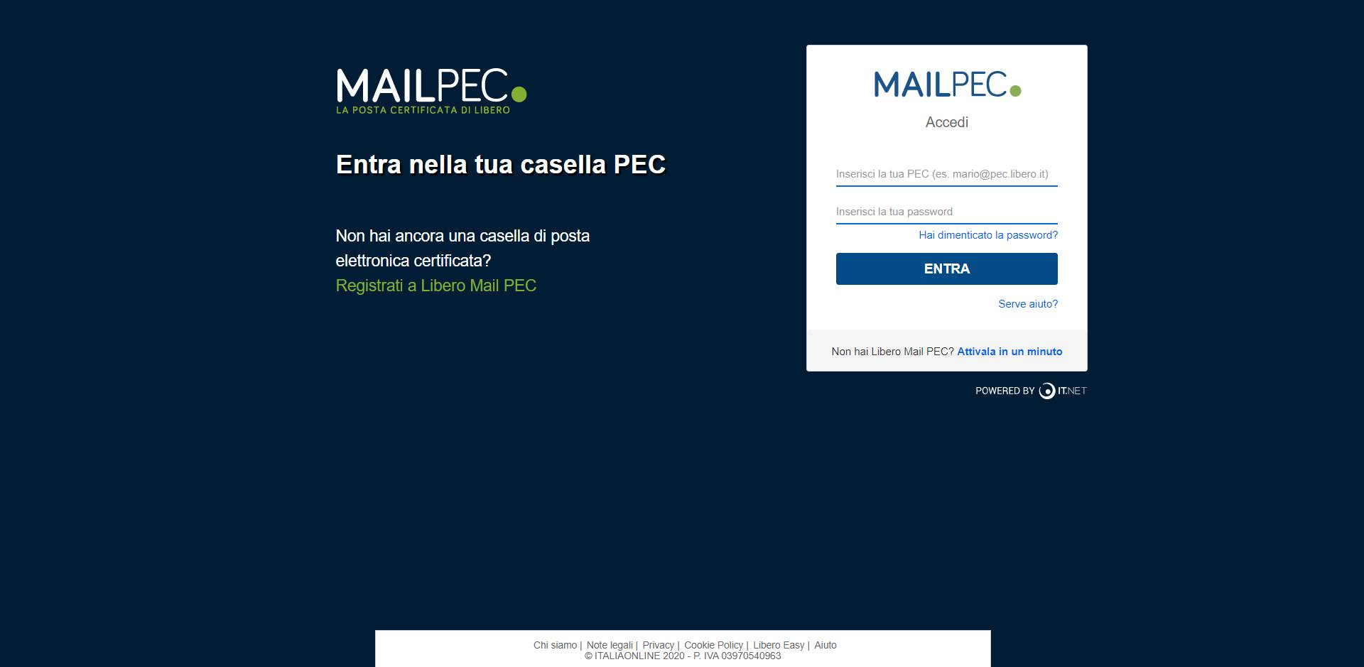 PEC Libero Mail