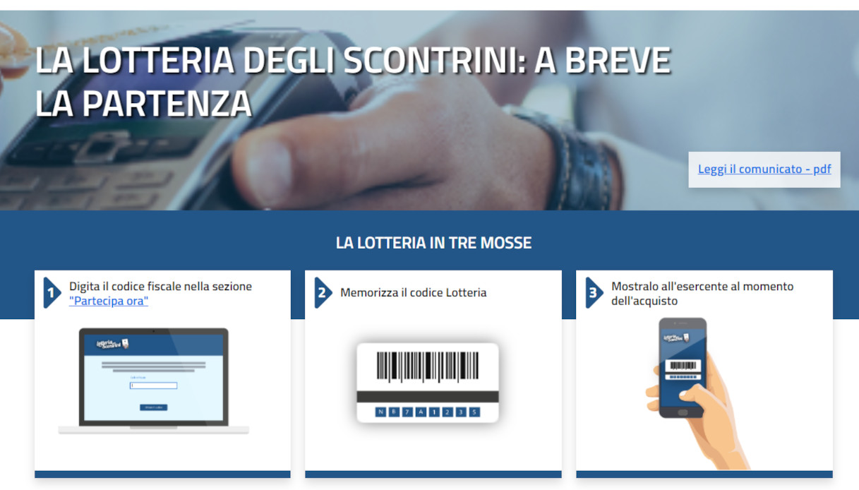portale lotteria degli scontrini