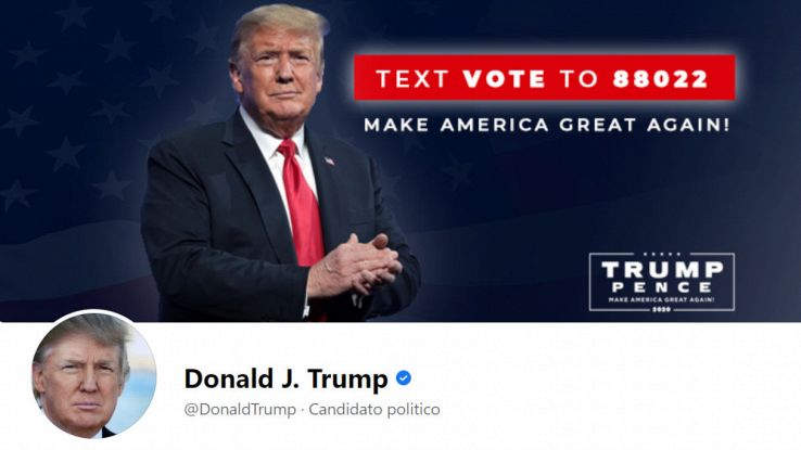 donald trump profilo facebook