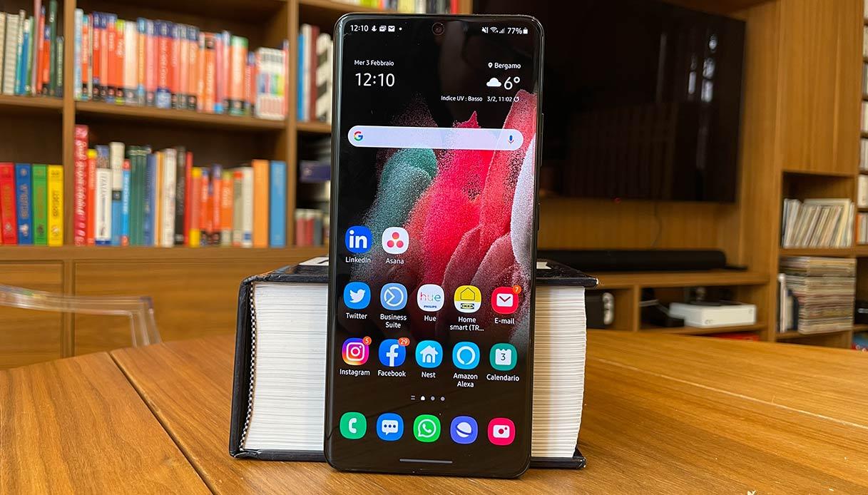 Samsung Galaxy S21 Ultra, il display