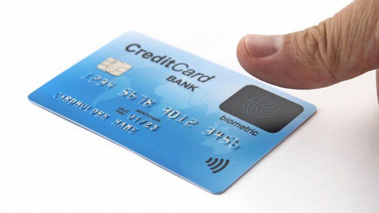 carta di credito impronta digitale biometrica