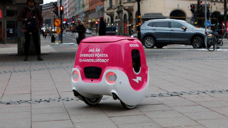 doora robot guida autonoma pizza a domicilio