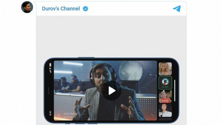 telegram videochiamate di gruppo