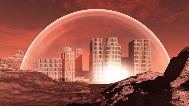 Metropoli sostenibile su Marte
