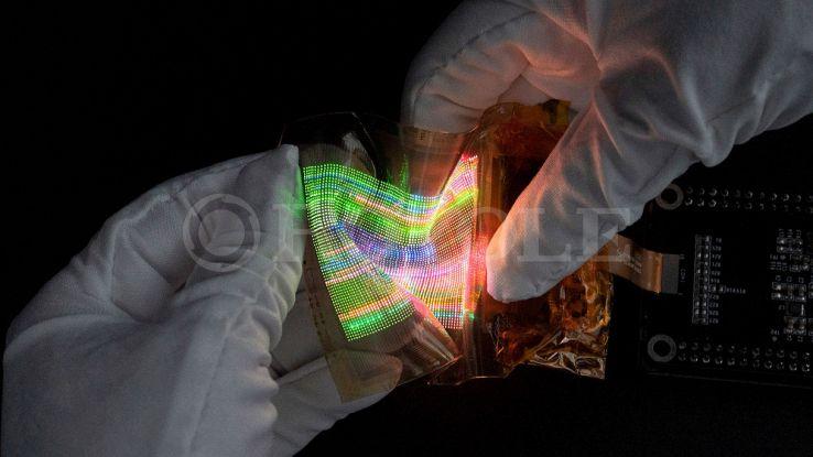 schermo flessibile royole micro led