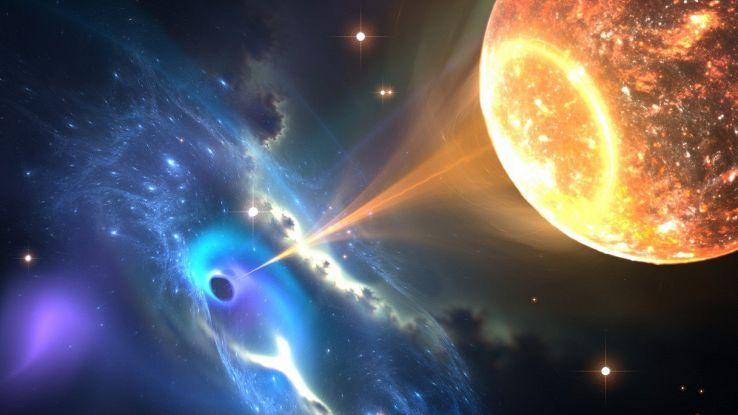 Buchi neri risucchiano le stelle, l'evento spaziale senza precedenti