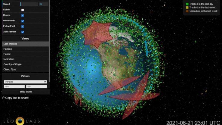 Un esercito di satelliti contro lo scudo protettivo della Terra: l'immagine lo conferma