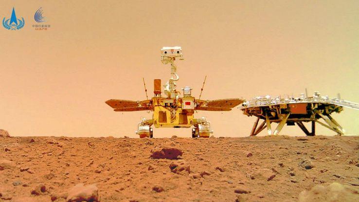 I primi suoni registrati sul Pianeta Rosso dal rover cinese
