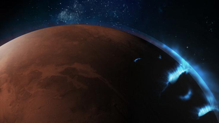 Catturate le immagini di strane aurore aliene su Marte