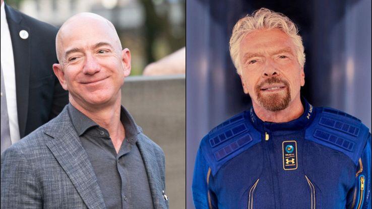 Jeff Bezos nello spazio: Richard Branson rischia di oscurarlo
