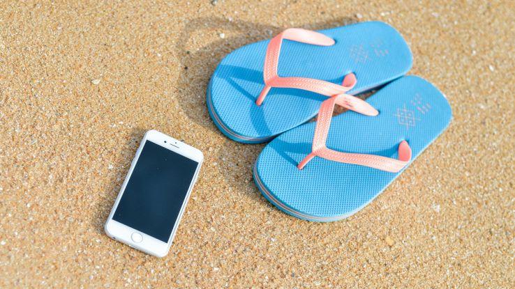 iphone spiaggia