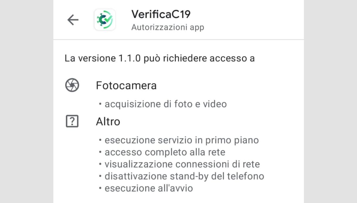 app verifica c19 privacy