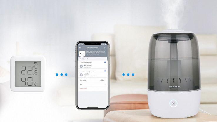 switchbot umidificatore ultrasuoni wi-fi smart