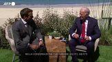 G7, Macron e Biden dopo il loro incontro bilaterale