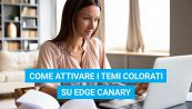 Come attivare i temi colorati su Edge Canary