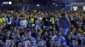 Europei, la gioia dei tifosi ucraini a Kiev dopo la vittoria contro la Svezia