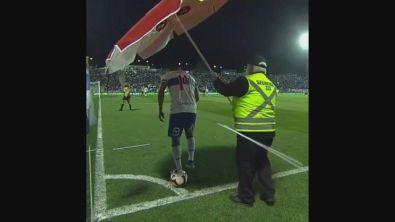 Il corner impossibile, anche con l'ombrellone...