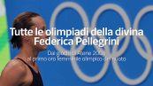 Tutte le olimpiadi della divina Federica Pellegrini
